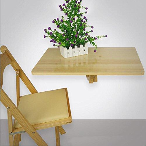 Tische MEIDUO Drop Leaf Esstisch Wandmontierte Workstation Massivholz Stuhl Set 60 * 40cm Computertisch (Farbe : Holz) -