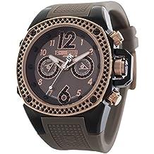 TECHNO Sport Mujer Chrono Reloj–Negro/Marrón