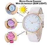 #5: Luxurit Classy Analogue Color Changing Watch for Girls & Women-Premium Quality (White to Purple)
