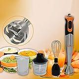 0Miaxudh Stabmixer, 700W Elektromixer, Multifunktionsküche Küchenmaschine Stick Chopper Schneebesen Juicer Mixer