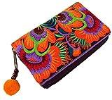 Guru-Shop Portemonnaie Chiang Mai - Orange, Herren/Damen, Mehrfarbig, Baumwolle, Size:One Size, 10x15x3 cm, Börsen aus Stoff, Hanf & Brokat
