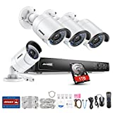 ANNKE Überwachungskamera Set, 8CH 4.0MP POE NVR Netzwerk Video Recorder + 4×4 Megapixel IP Überwachungsskameras mit 1TB Überwachung Festplatte, POE Plug und Play, Bewegungserkennung E-Mail Alarm