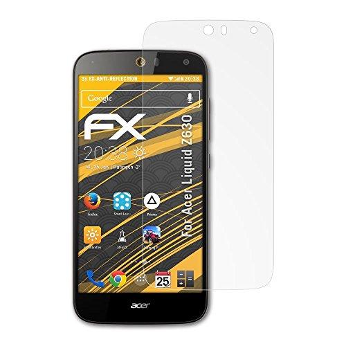 atFolix Panzerfolie kompatibel mit Acer Liquid Z630 Schutzfolie, entspiegelnde & stoßdämpfende FX Folie (3X)
