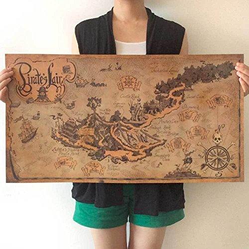 poster-wall-map-nautica-ancient-map-island-treasure-pirates-pirate