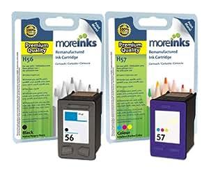 2x Cartouches d'encre Compatibles pour Imprimante HP PSC 2450 - Noir+Tri-Colour