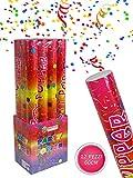 Vetrineinrete Set 12 sparacoriandoli colorati da 40 60 e 80 cm per feste matrimonio compleanno tubo cannone coriandoli party (60 cm)