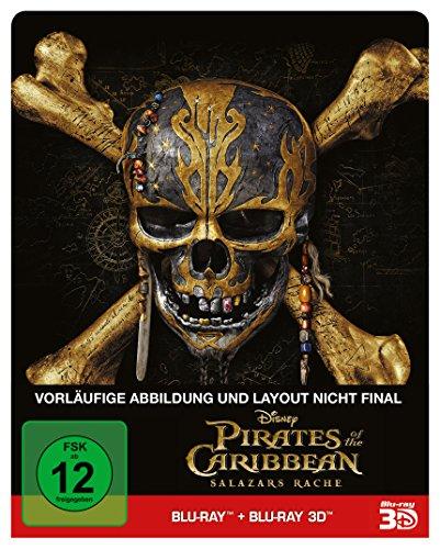 Preisvergleich Produktbild Pirates of the Caribbean: Salazars Rache (2D+3D) - Steelbook Edition [3D Blu-ray]