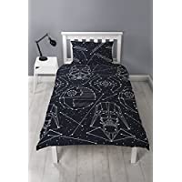 Star Wars Stellar Single Duvet Cover | Darth Vader & Storm Trooper Reversible Two Sided Design | Kids Bedding Set Includes Matching Pillow Case