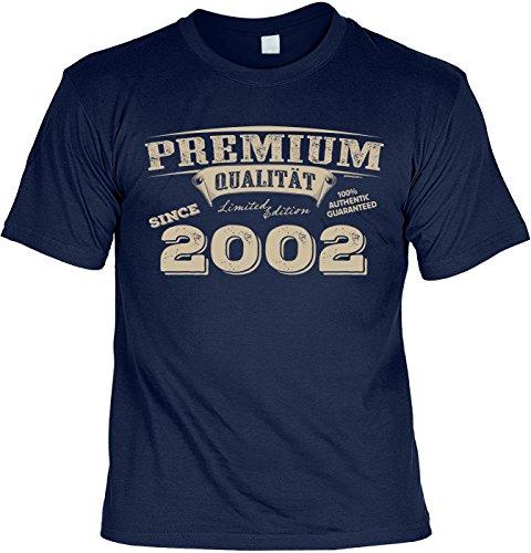 T-Shirt 16 Geburtstag - Geburtstagsshirt Sprüche Jahrgang 2002 : Premium Qualität Since 2002 - Geschenk-Shirt Zum 16.Geburtstag Mädchen/Junge