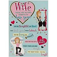 Hallmark Anniversary Card For Wife 'Reasons To Love You' - Medium