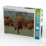 Elefantenherde : nah dran. Kenia 1000 Teile Puzzle quer (CALVENDO Tiere)