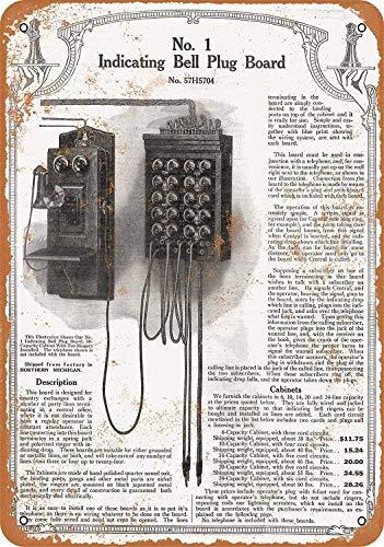 Sears Telephone Operator Switchboard Vintage Blechschild Antike Metall gemälde Retro Wandschild Teller Poster Kaffee-Dekoration für Zuhause Club Bar Café Hotel - Sears Antik