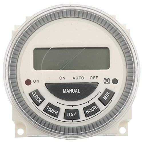 Programmierbare digitale Zeitschaltuhr, LCD-Anzeige, Leistungs-Zeitschaltuhr, Relais 30A, zur Werbung für Leuchtkästen, Rundfunk(220V)