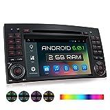 XOMAX XM-05ZA Autoradio passend für Mercedes W169 W245 W906 B-Klasse A-Klasse I mit Android 6.0.1, GPS Navigation, WiFi, Bluetooth, 7 Zoll / 18 cm Touchscreen Bildschirm, DVD, CD, USB, Micro SD, 2 DIN