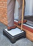 Healthy Living Direct 3 Tier Anti Slip Outdoor Half Step Elderly Disability Door Walking Aid 15cm