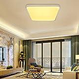 VINGO 50W LED Deckenleuchte Warmweiß Eckig Wohnzimmerlampe Schlafzimmerleuchte Badezimmerlampe spritzwassergeschützt