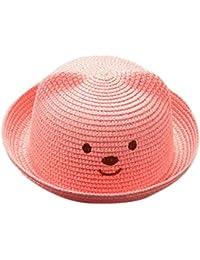 QUICKLYLY Sombrero de Paja Playa Respirable Sombrero de Sol de Ocio al  Deporte Aire Libre Verano para Unisex… 55e9b4554df
