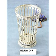 Schirmst/änder oder Papierkorb aus Eisen im Shabby chic weiss antik Stil