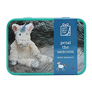Apples to Pears Sew Me Up Petal The Unicorn Teddy Soft Toy Sewing Kit In A Tin