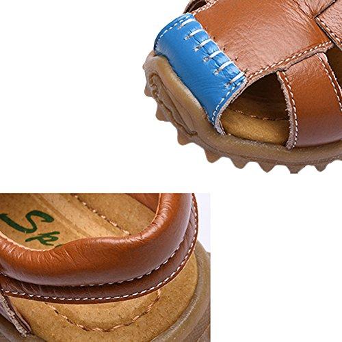 Junge Kinder Sandalen Sommer Strand Outdoor Geschlossen-Toe Sandalen Abenteuerlich Design Leicht-Sport-Sandalen Kinder Athletic Beach Schuhe A:Yellow