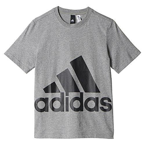 adidas YB Big Logo Tee T-shirt für Jungen, Grau (Brebas / Energi), 176 (Grau-logo-t-shirt)