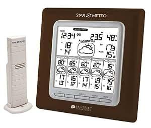 La Crosse Technology WD6003 Station Starmétéo J + 5 avec Probabilité de pluie -Chocolat