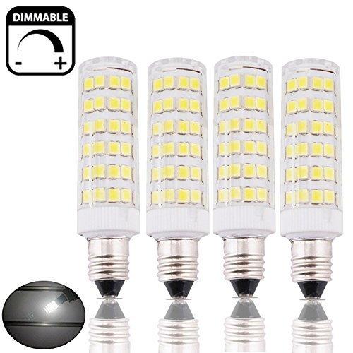 Bonlux 4-Packs 6W SES E14 LED-Kerze-Glühlampe-kühles Weiß 6000K 50W Halogen-Wiedereinbau-kleine Edison-Schraube SES LED Mais-Lampe für Decken-Ventilator, Kronleuchter, Innendekorative Beleuchtung, neben Lampe, Schreibtisch-Lampe (Neben Beleuchtung)