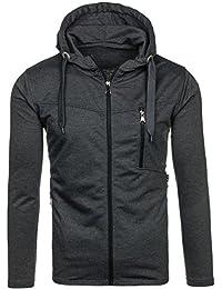 BOLF – Sweatshirt – Capuche – Fermeture éclair – Hoodie – Sport – Zip – Homme [1A1]