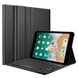 HOM 3 Fold Cover Case with Detachable Bluetooth Keyboard Wireless for Apple iPad