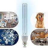 BRIGHTINWD LED 220 V 15 W UV-Ozon Sterilisation Lampe E27 Sockel antibakteriell Rate 99% UV-Desinfektion keimtötende Leuchten mit Lampenfuß[Energieklasse A+]