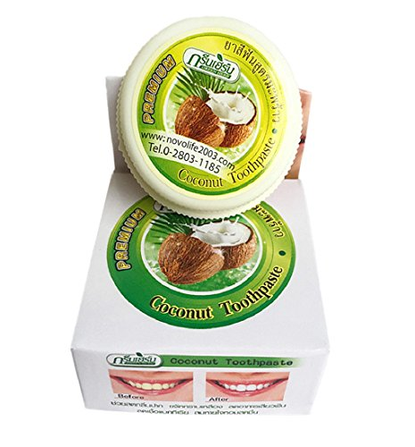 LONUPAZZ Poudre Blanche Dent Teeth Whitening Coconut Powder Enlever Les Taches