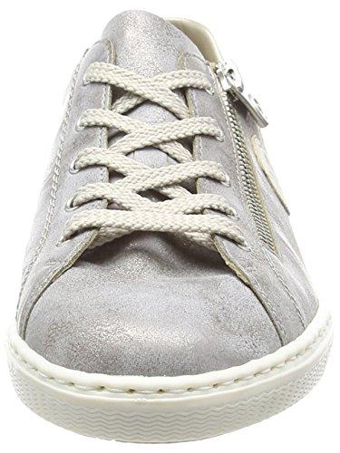 Rieker L0946, Baskets Basses Femme Gris (Grey/ice / 40)