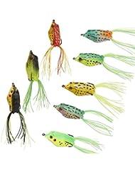 5pcs Leurre Grenouille Crochet Jig Attirail de Pêche Grenouille Doux Topwater Pêche Leurre Crankbait Crochets Bass Bait Tackle