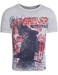 Akito Tanaka Herren T-Shirt Samurai Skull Totenkopf Schwert Asiatisch Japan 04fe965935