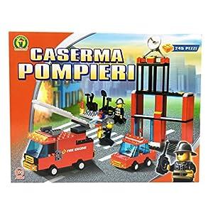 COSTRUZIONI PER BAMBINI CASERMA DEI POMPIERI 245 PZ - COMPATIBILI LEGO 8033614046845 LEGO