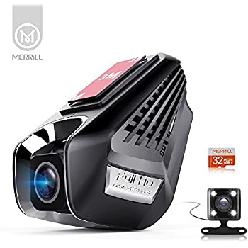 merrill dual dashcam videokamera f r auto fhd. Black Bedroom Furniture Sets. Home Design Ideas