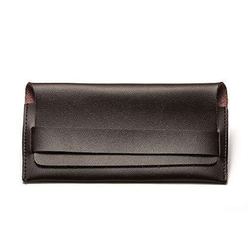 Suertree Fashion Leder Tragbare Brillenbox Vintage Tasche für Sonnenbrillen und Lesebrille Paket 205 - Braun -