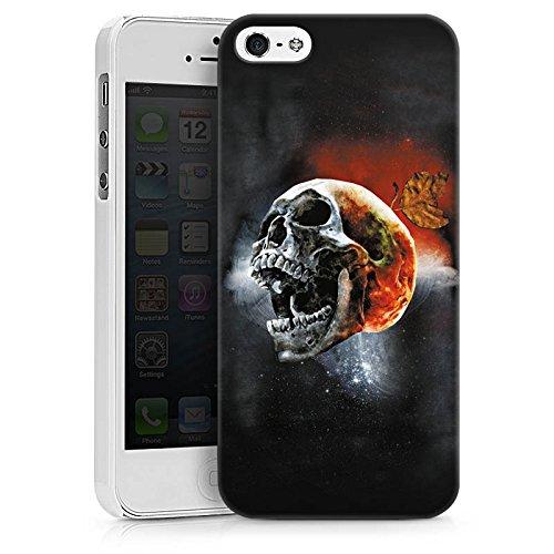 Apple iPhone X Silikon Hülle Case Schutzhülle Totenschädel Kopf Scream Hard Case weiß
