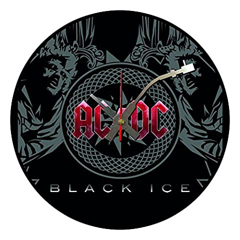 Iconic AC/DC vinyl record wall clock
