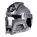 AXIANQI Mittelalterliche Iron Warrior Tactical Helm Outdoor Retro Helm Camouflage Helm Unisex Helm Outdoor-Aktivitäten (Farbe : Carbon Fiber Color)