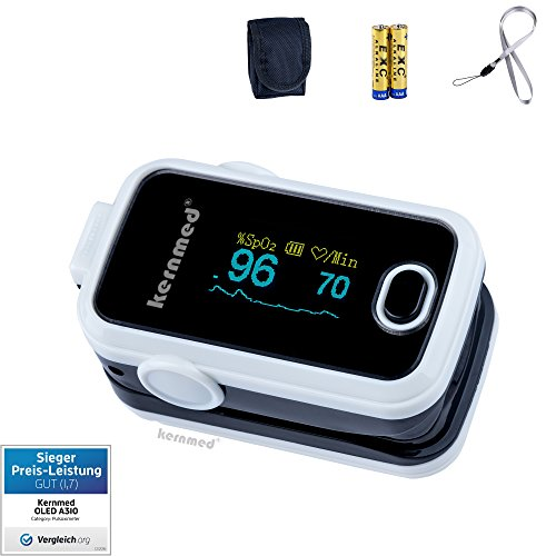 KERNMED OLED Finger Pulsoximeter A310 weiss + Alarm + Pulston Oxymeter