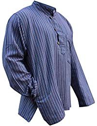 Multicolor mix de rayas dharke manga larga ligera con función atril cómoda  camiseta de manga corta para abuelo… 7e2f61afcfa3