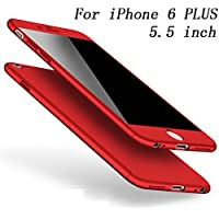 iPhone 6/6s Case iPhone 6 Plus /6s Plus Cover 360 Degree Protection 3 in 1 Slim Cover Adamark Shockproof Shell Full Body Coverage Protection Protective Case + Tempered Glass Screen Protector For iPhone 6/6s Plus