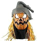Blaward Scary Clown Maske Gesicht Neuheit Latex Horror Masken, Halloween Kostüm für Party, Schreckliche Kürbis Kopf Maske für Halloween Party