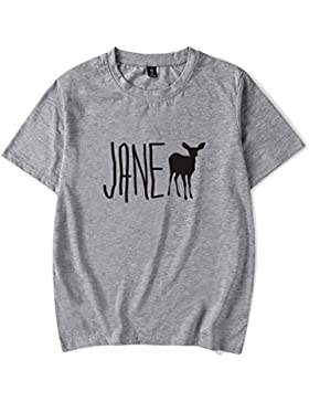 SIMYJOY Pareja Life Is Strange Fans Camiseta Manga Corta Jane Doe T-Shirt Cool Fire Walk Top Para Hombre Mujer...