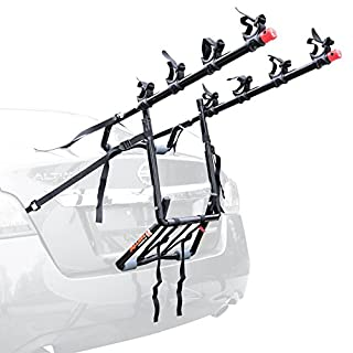 Allen Sports USA Deluxe 4-Bike Trunk Mounted Bicycle Carrier for Automobile - Black