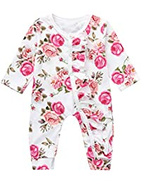 709d3f9f5db6 for 0-2Years,SO-buts Infant Baby Girls Long Sleeve Lovely Floral Flower