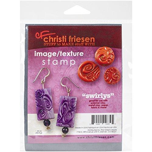 Großartig schaffen Gummi Christi Friesen (Haut-Rhin) Textur Stempel 10,8cm x 14, swirlys -
