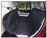 Auto Hängematte Hund, robuste Schutzdecke für Rücksitz in schwarz, Sitzschoner ca. 145 x 145 cm
