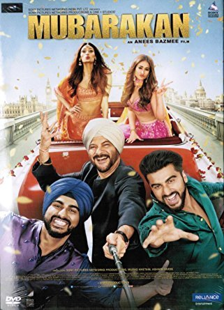 MUBARAKAN Film ~ DVD ~ Bollywood ~ Hindi mit englischem Untertitel ~ India ~ 2017 ~ Anil Kapoor & Arjun Kapoor ~ Original RELIANCE DVD ~ verkauf nur über Bollywood 24/7